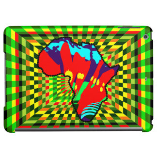 アフリカ人のKenteの布種族パターンカラフル iPad Airケース