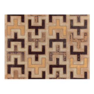 アフリカ人のMudcloth装飾的なパターン ポストカード