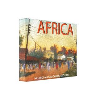 アフリカ人MOJISOLA A GBADAMOSIによる祖国(2) キャンバスプリント