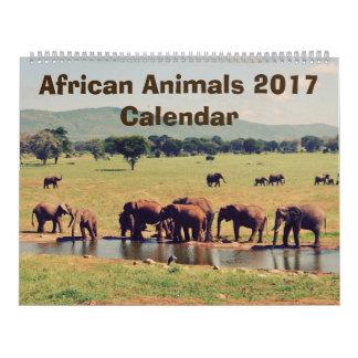 アフリカ動物のカレンダー カレンダー