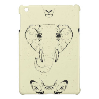 アフリカ動物の頭部 iPad MINI カバー