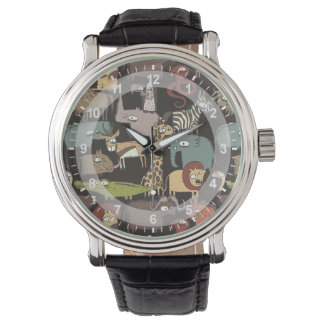アフリカ動物パターン 腕時計