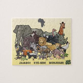 アフリカ動物-ジグソーパズル ジグソーパズル