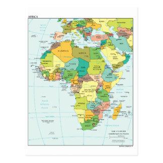 アフリカ大陸地図 ポストカード