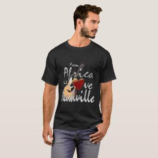 アフリカ愛ナッシュビルの男性Tシャツ Tシャツ