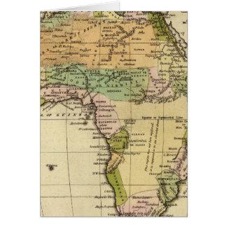 アフリカ手の着色された地図書の地図 カード