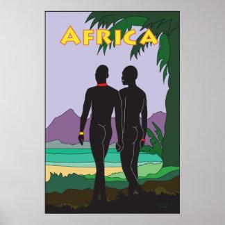 アフリカ旅行 ポスター
