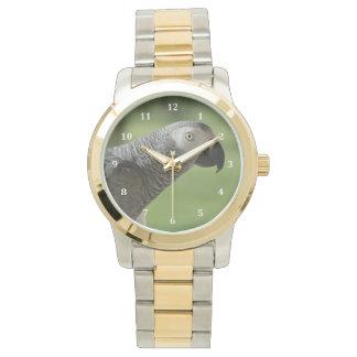 アフリカ灰色のオウム 腕時計