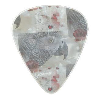 アフリカ灰色のラブレター パールセルロイド ギターピック