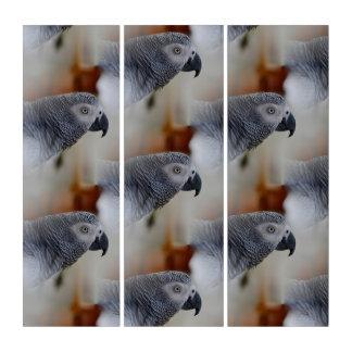 アフリカ灰色パターン トリプティカ