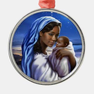 アフリカ系アメリカ人の出生の芸術のクリスマスオーナメント メタルオーナメント