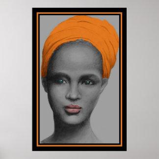 アフリカ系アメリカ人の女性のポートレート ポスター
