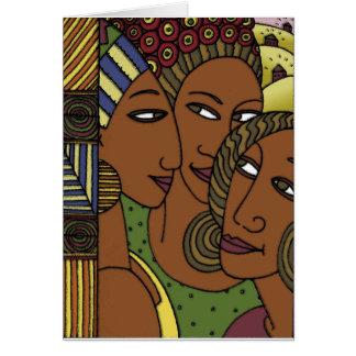 アフリカ系アメリカ人の女性の姉妹の友人 カード