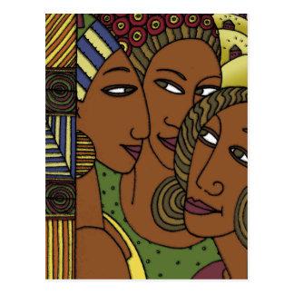アフリカ系アメリカ人の女性の姉妹の友人 ポストカード