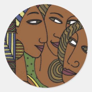 アフリカ系アメリカ人の女性の姉妹の友人 ラウンドシール