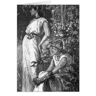 アフリカ系アメリカ人の妖精(ブライダルシャワー) カード