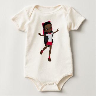 アフリカ系アメリカ人の学校の女の子のTシャツ ベビーボディスーツ