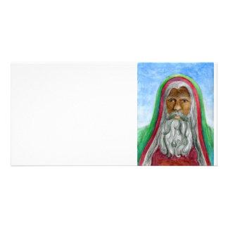 アフリカ系アメリカ人の旧世界サンタ カード