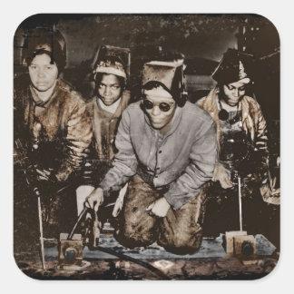 アフリカ系アメリカ人の製鋼職工WWII スクエアシール