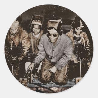 アフリカ系アメリカ人の製鋼職工WWII ラウンドシール