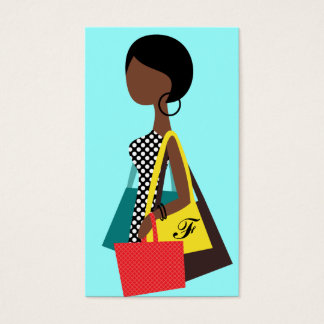 アフリカ系アメリカ人311のファッショニスタ買い物袋 名刺