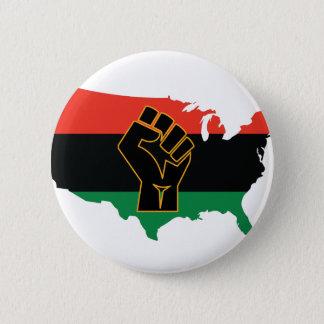 アフリカ系アメリカ人 5.7CM 丸型バッジ