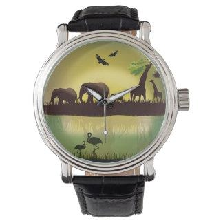 アフリカ1つの腕時計及び数字の選択 腕時計