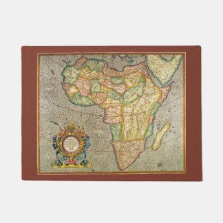 アフリカ1633年の旧世界のメルカトルの旧式な地図 ドアマット