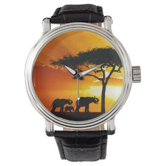 アフリカ2の腕時計及び数字の選択 腕時計