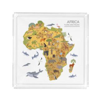 アフリカ の植物相及び動物群の地図 アクリルトレー