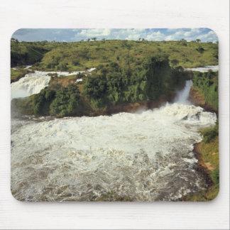 アフリカ、ウガンダ、Murchison Falls NP。 泡だらけ マウスパッド