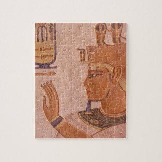 アフリカ、エジプトの王の谷。 墓壁 ジグソーパズル