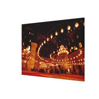 アフリカ、エジプト、カイロのムハマドアリのモスク キャンバスプリント