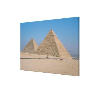 アフリカ-エジプト-カイロ-ギーザの素晴らしいピラミッド、 キャンバスプリント