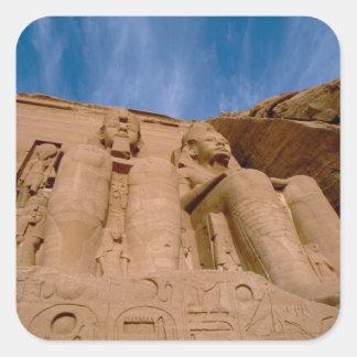 アフリカ、エジプト、Abu Simbel、Ramses II スクエアシール