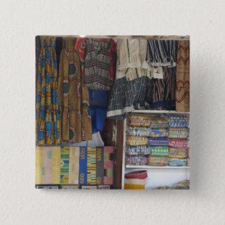 アフリカ、ガーナ、アクラ。 アクラの織物及び手仕事 5.1CM 正方形バッジ