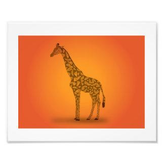 アフリカ-キリン フォトプリント