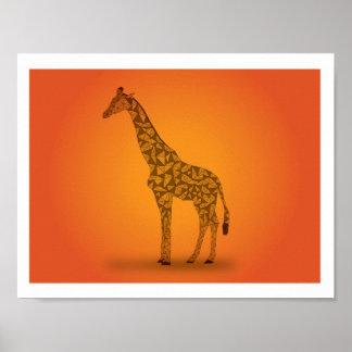 アフリカ-キリン ポスター