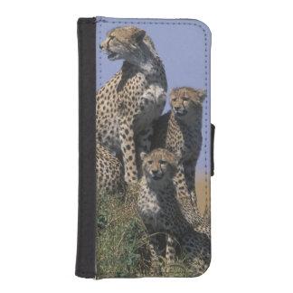 アフリカ、ケニヤ、マサイ族のマラのゲームの予備、大人4 iPhoneSE/5/5sウォレットケース