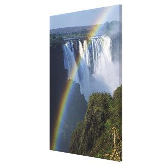 アフリカ、ジンバブエ、ヴィクトリア滝 キャンバスプリント