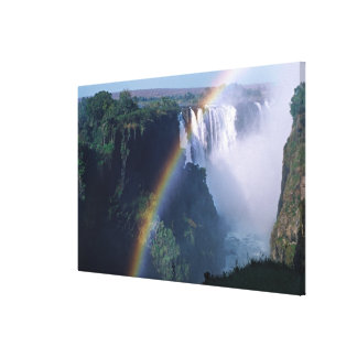 アフリカ、ジンバブエ。 ヴィクトリア滝 キャンバスプリント
