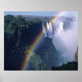 アフリカ、ジンバブエ。 ヴィクトリア滝 ポスター