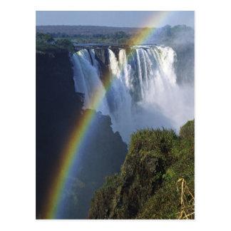 アフリカ、ジンバブエ、ヴィクトリア滝 ポストカード