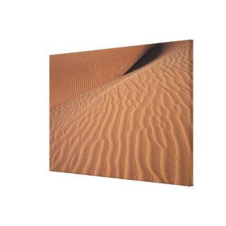 アフリカ、ナミビアのSossusvleiの地域。 砂丘 キャンバスプリント