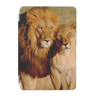 アフリカ、ナミビア、Okonjima。 ライオン及び雌ジシ iPad Miniカバー