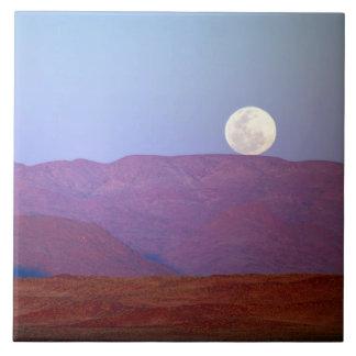 アフリカ、ナミビア、Sossusvlei。 満月の残り タイル