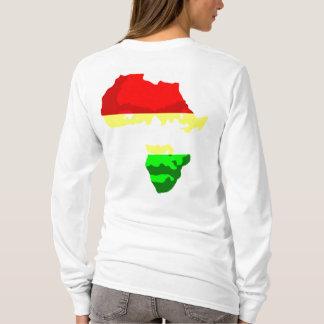 アフリカ(レディースフード付)の顔 Tシャツ