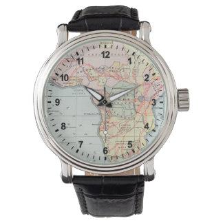 アフリカ: 地図1894年 リストウオッチ