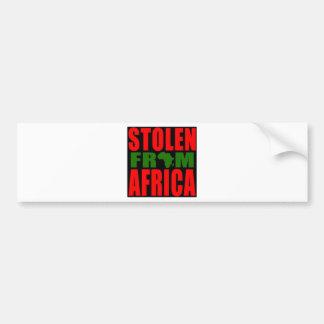 アフリカ-赤く黒いおよび緑の旗から盗まれる バンパーステッカー