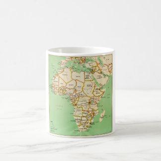 アフリカ(1966年)の地図 コーヒーマグカップ